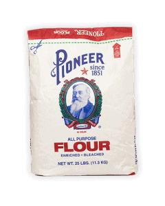 25lb white flour front of packaging