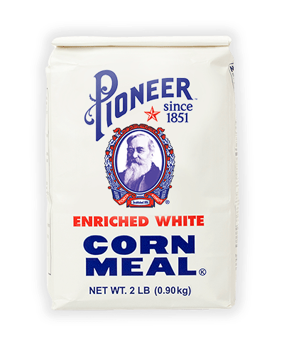 2lb white cornmeal front of packaging