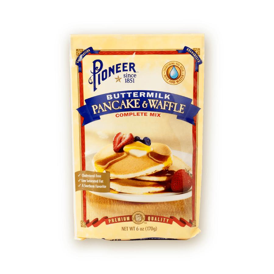buttermilk pancake waffle complete mix packaging