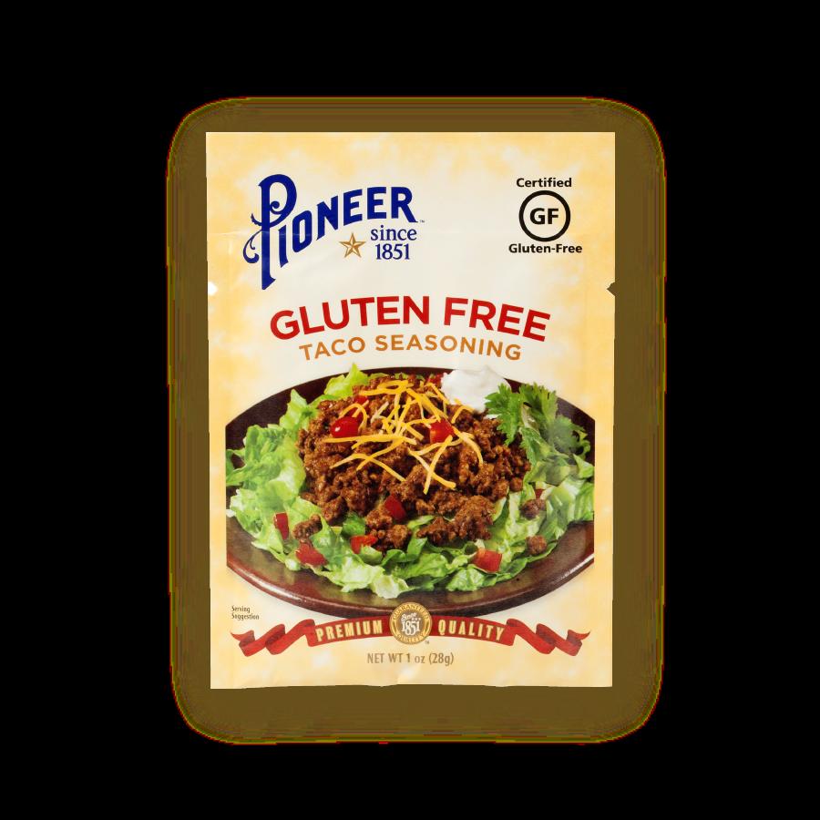 glutten free taco seasoning pioneer 1oz pioneer packaging