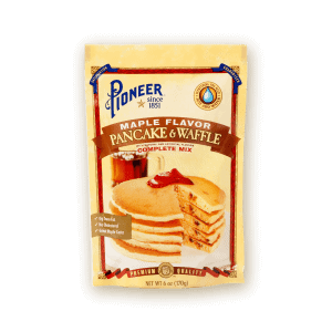 maple flavor pancake and waffle with natural and artificial flavors complete mix packaging
