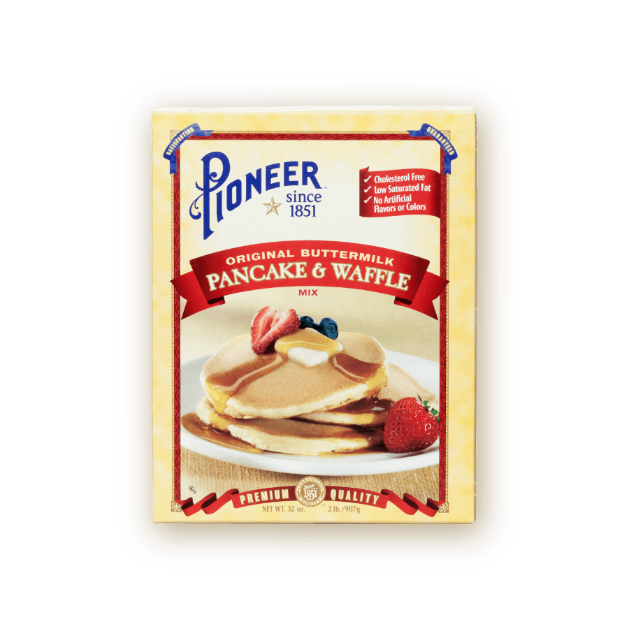 original buttermilk pancake waffle mix packaging