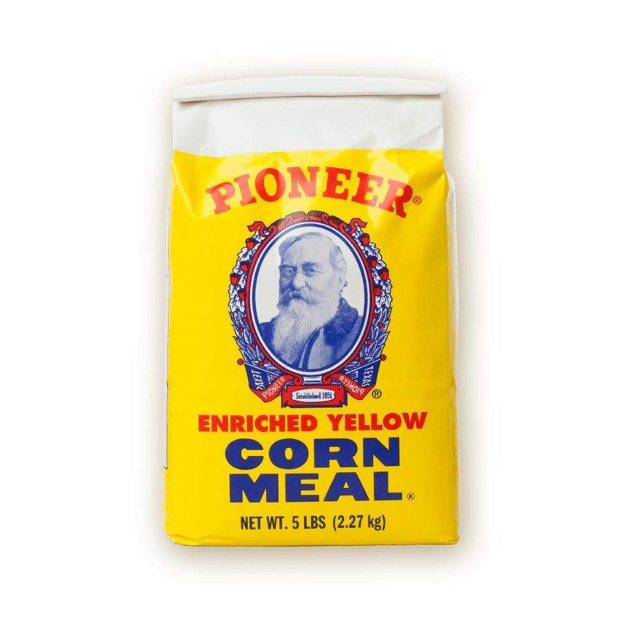 pioneer enriched yellow corn meal 2.27kg packaging