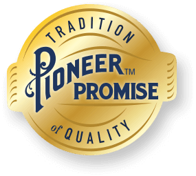 pioneer promise tradition of quality badge