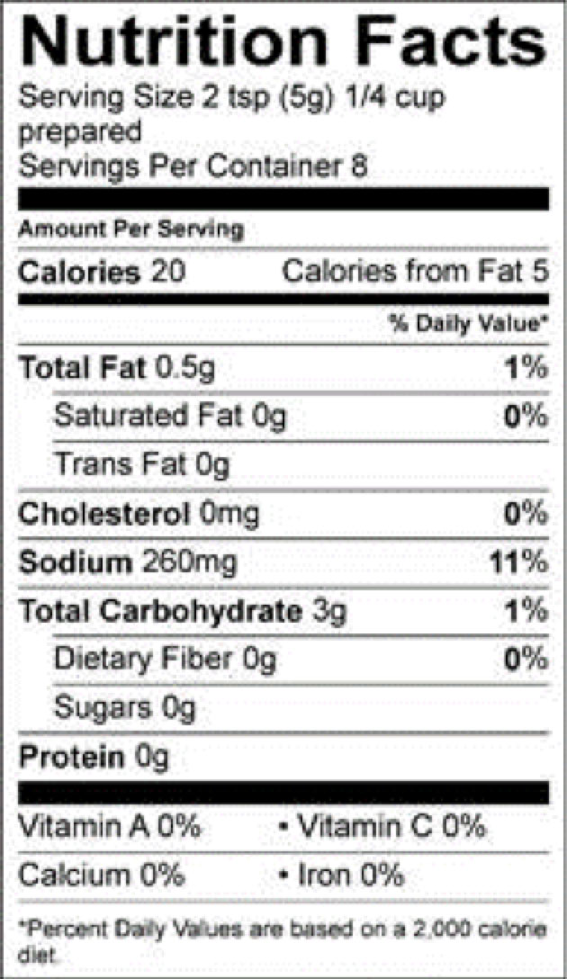 roasted turkey pioneer nutrition facts sheet
