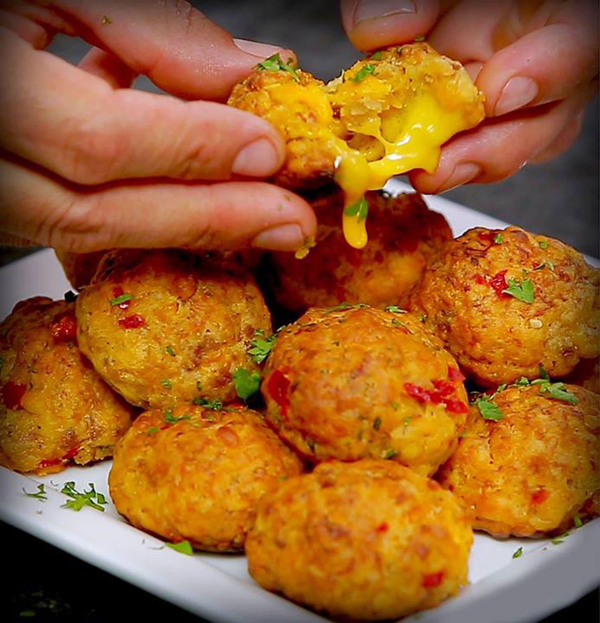 Pimento Cheese Sausage Balls Pioneer