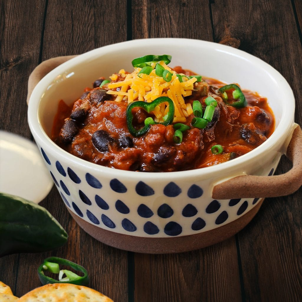 Pioneer Recipe - Black Bean and Pork Sausage Chili