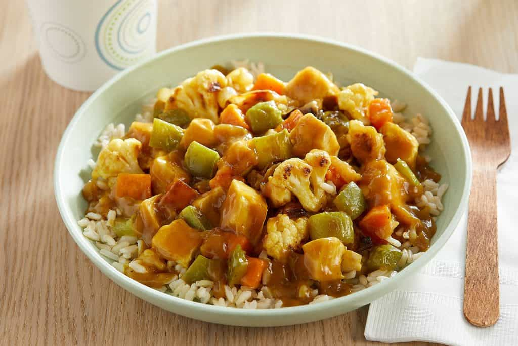 curried chicken with roasted vegetables