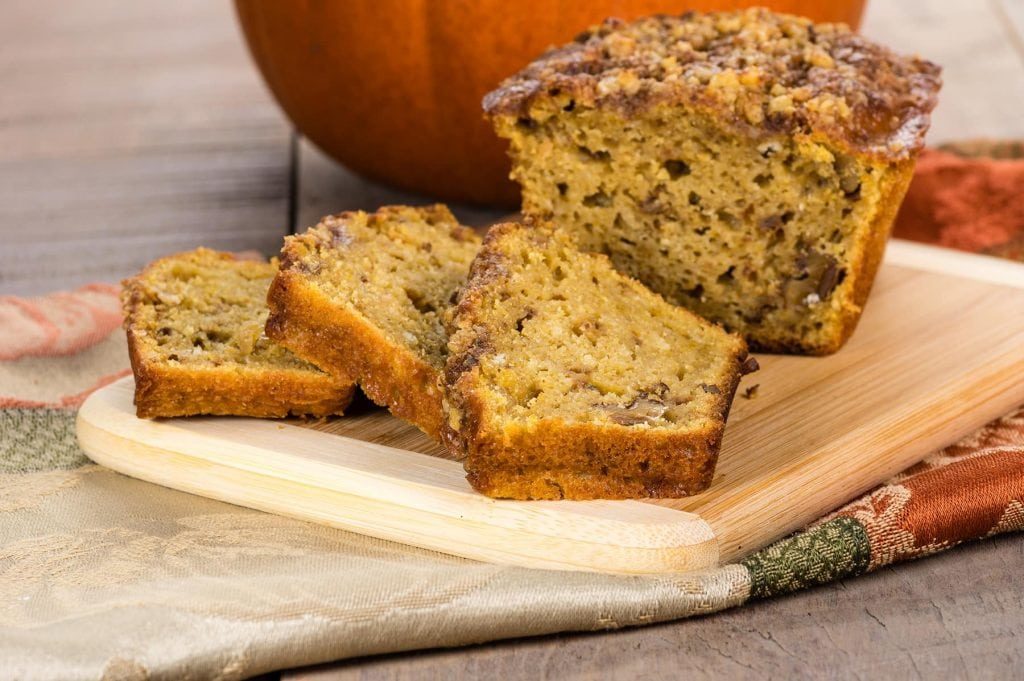 Pumpkin, Walnut, and Cranberry bread