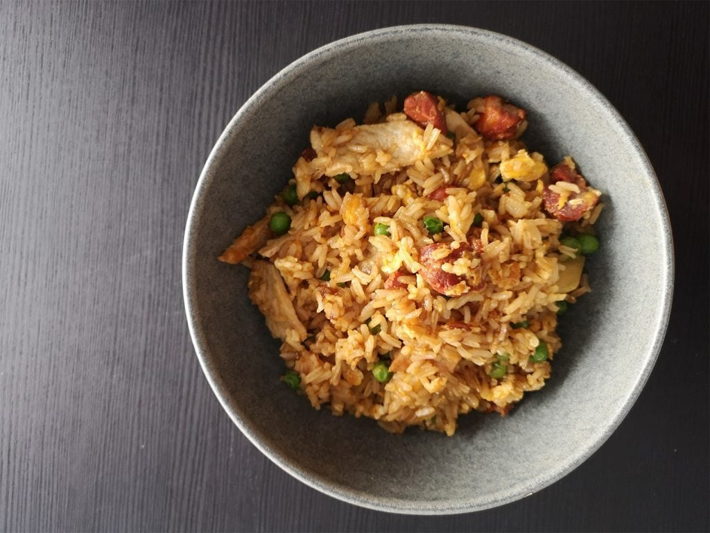 Chilis and Chorizo Fried Rice